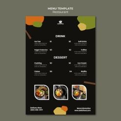 餐廳菜單模板PSD素材設計