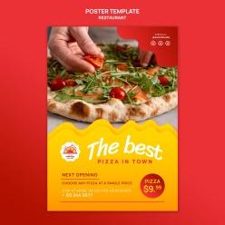 美味披薩廣告海報設計