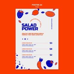 手繪果蔬菜單模板設計