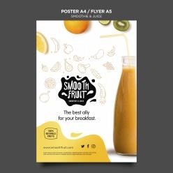 美味果蔬汁廣告海報設計