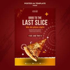 披薩餐廳美食宣傳海報