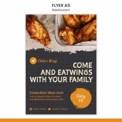 餐廳宣傳單海報模板