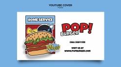 漢堡海報設計PSD素材