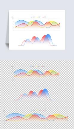 漸變曲線圖設計元素