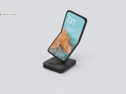 折疊手機樣機模板PSD