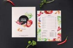 食物菜單PSD樣機模板
