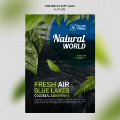 自然世界環保海報設計