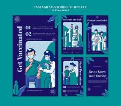 疫苗接種插畫宣傳單設計