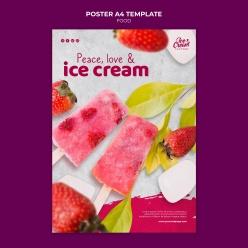 夏日雪糕零食海報設計