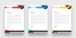 多彩商務信箋PSD模板
