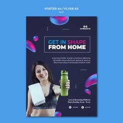 健身房運動宣傳海報設計
