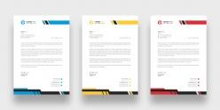 商務簡約信紙模板設計