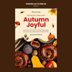 秋季廣告海報設計PSD