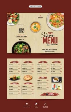 餐廳折頁菜單模板設計