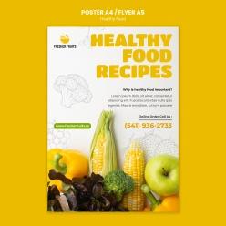 新鮮果蔬商超宣傳海報設計