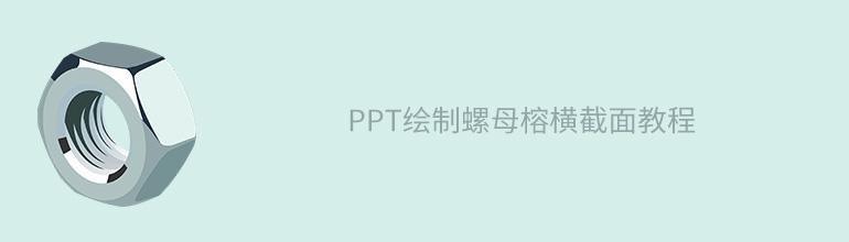 PPT繪制螺母榕橫截面教程